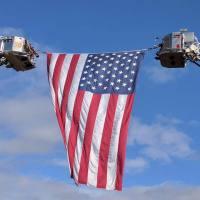 US-Flag-Ladder-Trucks