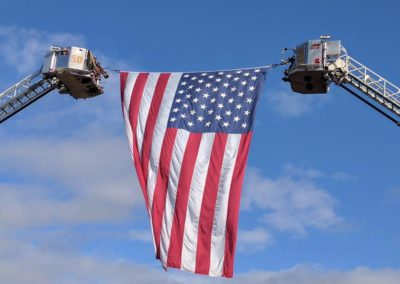 US Flag Ladder Trucks